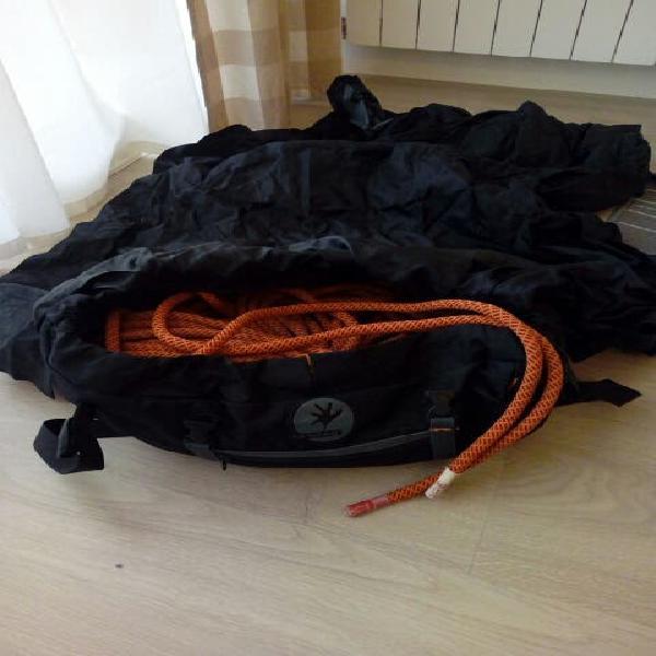 Cuerda escalada 60 m roca con su bolsa