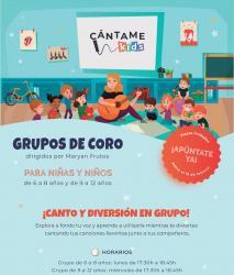 Grupo de coro para niños y niñas de 6 a 12 años!