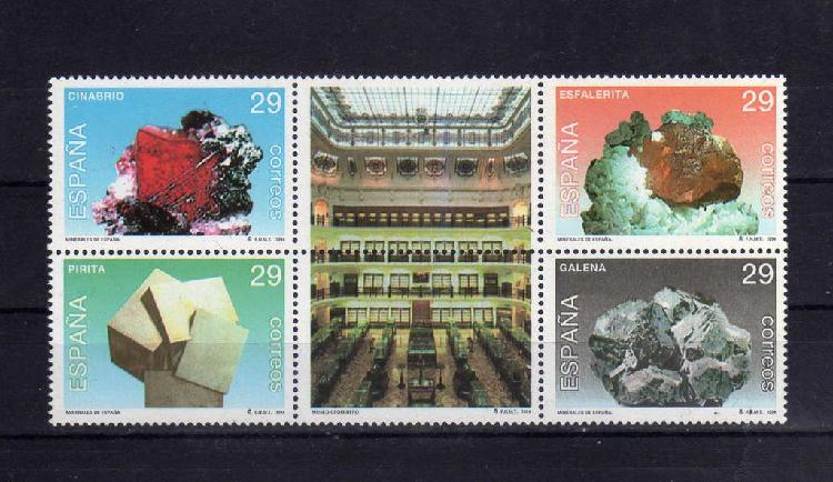 Lote 041 - hoja de sellos temática minerales nuevo