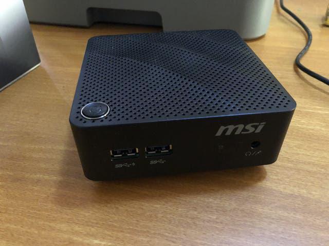 Minipc htpc msi cubi intel n3060 + 4gb + ssd 120gb