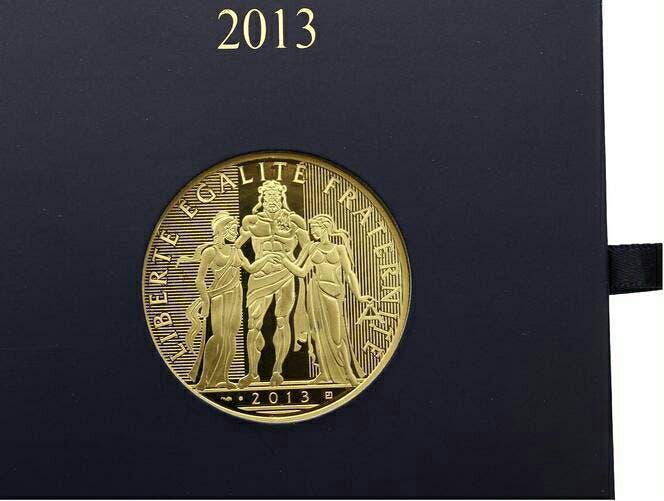 Moneda de oro francia 1,000 euros