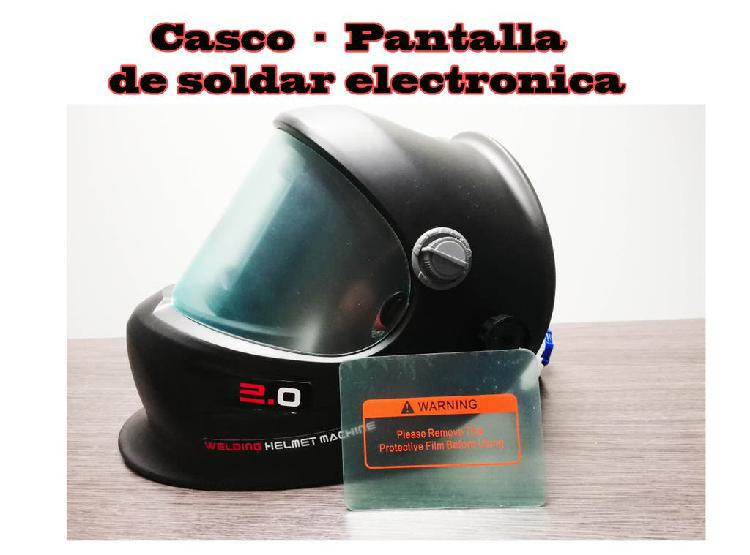 Pantalla de soldar electronica