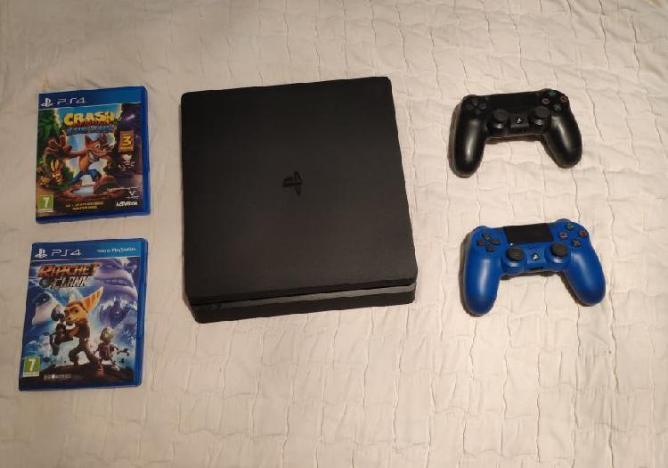 Ps4 nueva+2 mandos+red dead redemption 2