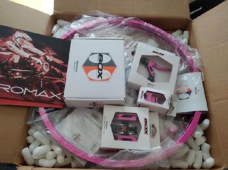 Kit bmx race box purple gama alta