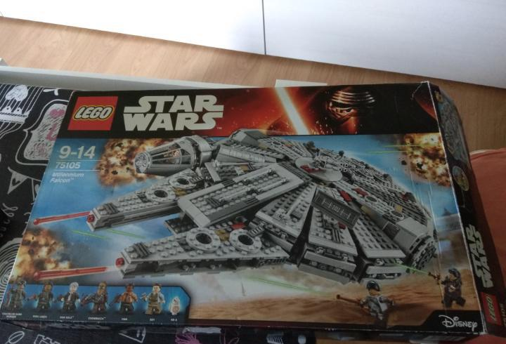 Caja vacia lego star wars referencia 75105 millennium falcon