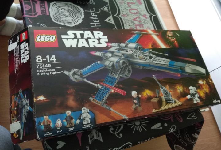 Caja vacia lego star wars referencia 75149 resistance x-wing