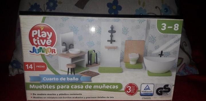 Cuarto de baño mobiliario casa casita muñecas play tive