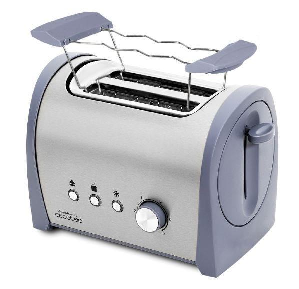 Cecotec 03035 - tostador steel&toast 2s doble ranura 800w