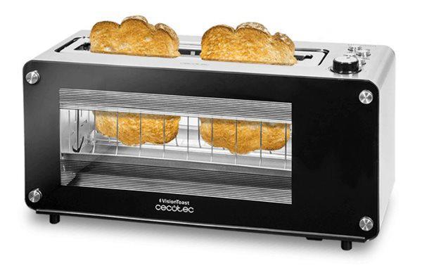 Cecotec 03042 - tostador vision toast 2 tostadas ranura xl