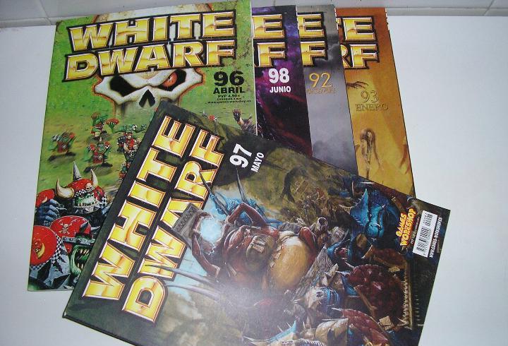 Lote warhammer antigua revista white dwarf games workshop