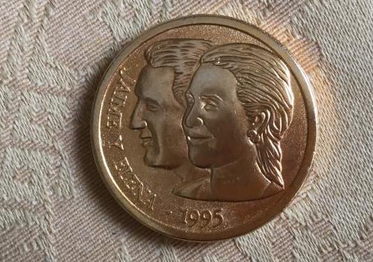 Moneda conmemorativa boda infanta elena