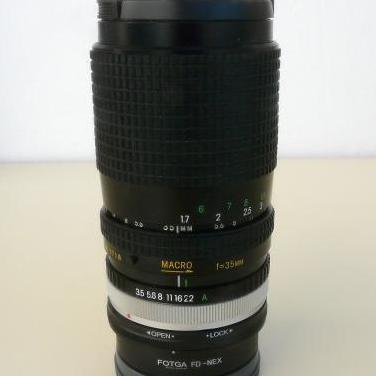 MONTAJE A SONY NEX DE OBJETIVO PARA FD 35-135mm