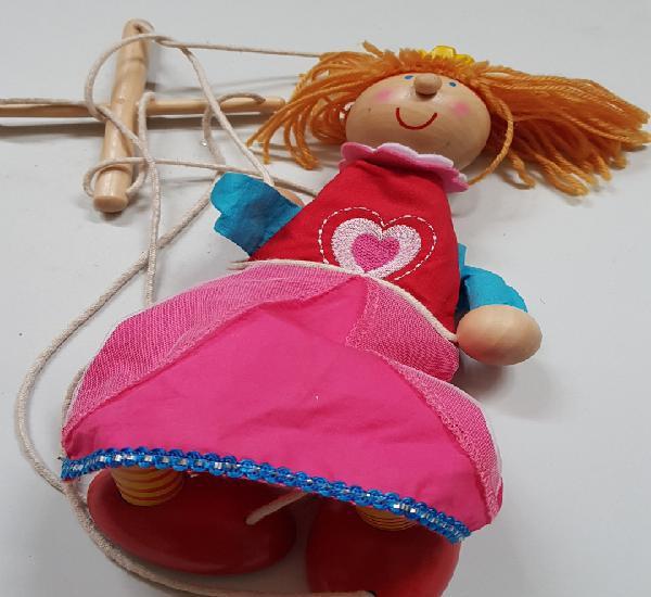 Marioneta muñeca cuerdas - car182