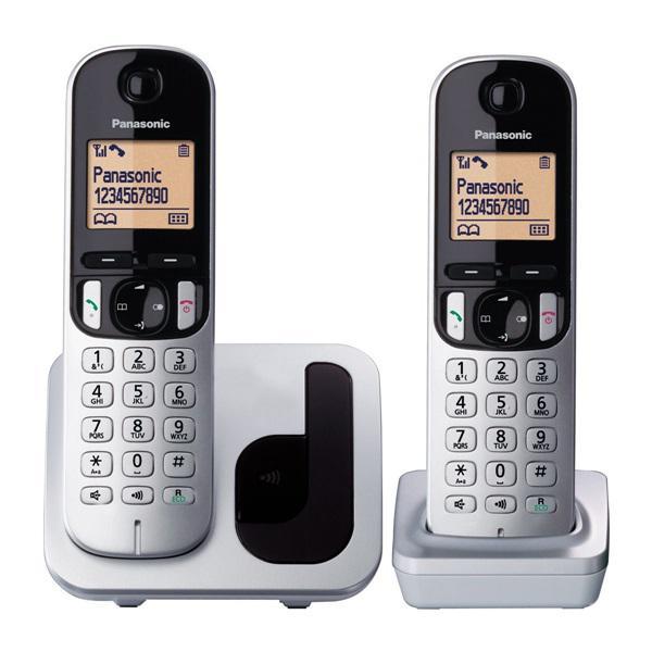 Panasonic kxtgc212sps - teléfono inalámbrico dect duo gris