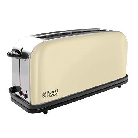 Russell hobbs 2139556t - tostadora classic cream con ranura