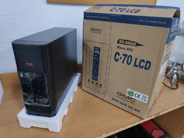 Caja de ordenador con pantalla led nueva