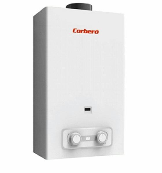 Calentador corbero cce6gb a gas butano 6l