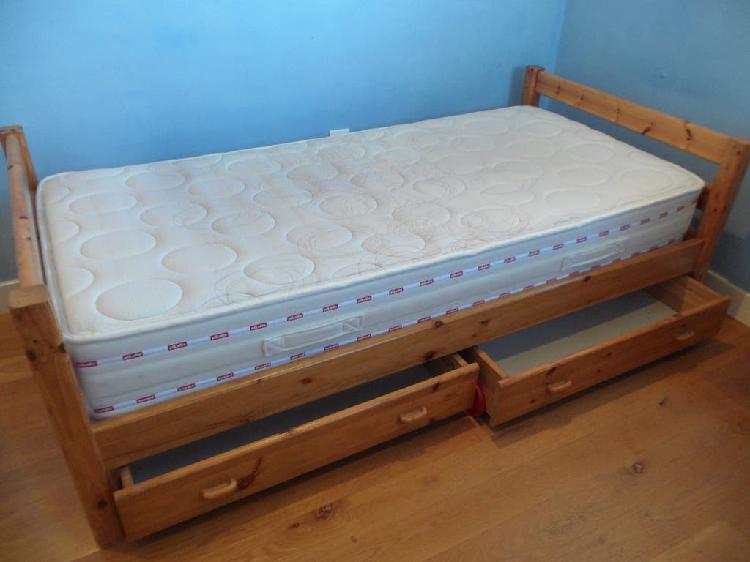 Cama flexa + colchón pikolin