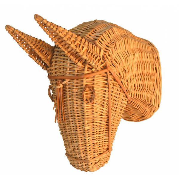 Cabeza caballo mimbre r6166