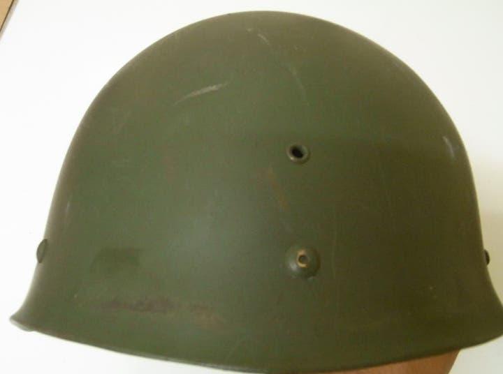 Casco militar soldado ejército francés 1967