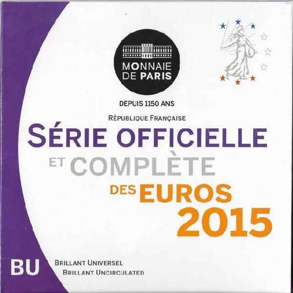 Francia 2015 cartera euros fdc set 8 monedas