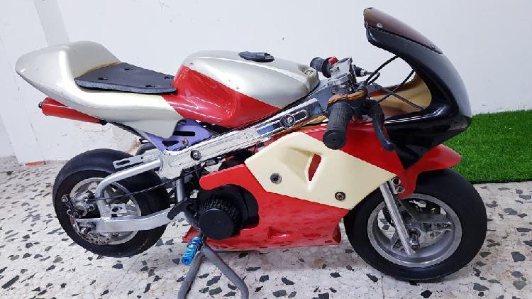 Pocket bike mini moto pista 49cc infantil