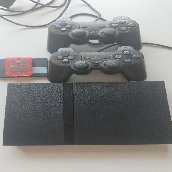 Ps2 slim + 3 comandaments i molts jocs
