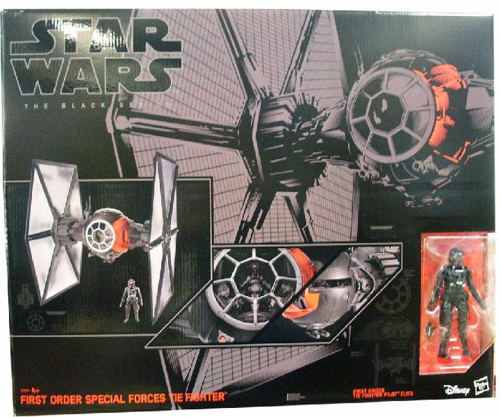 """Star wars tie fighter first order black series 6"""""""