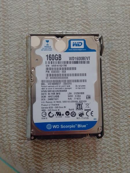 """Disco duro 160gb 2,5"""""""