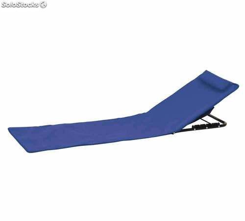 Esterilla playa acolchada reclinable con respaldo plegable