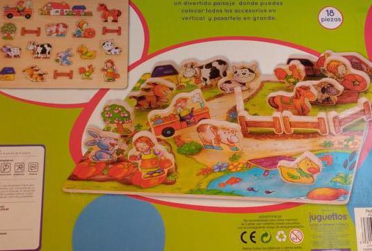 Puzzle de la granja juguettos