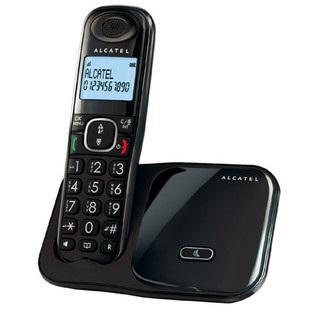 Teléfono alcatel xl280 inalámbrico dect tecla grande negro