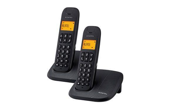 Teléfono inal. manos libres duo alcatel delta 180 negro duo