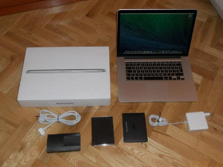 """Apple macbook pro retina 15"""" i7-8 gb ram-ssd 250."""