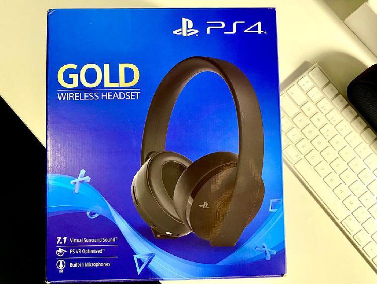 Auriculares gaming - sony gold - para ps4