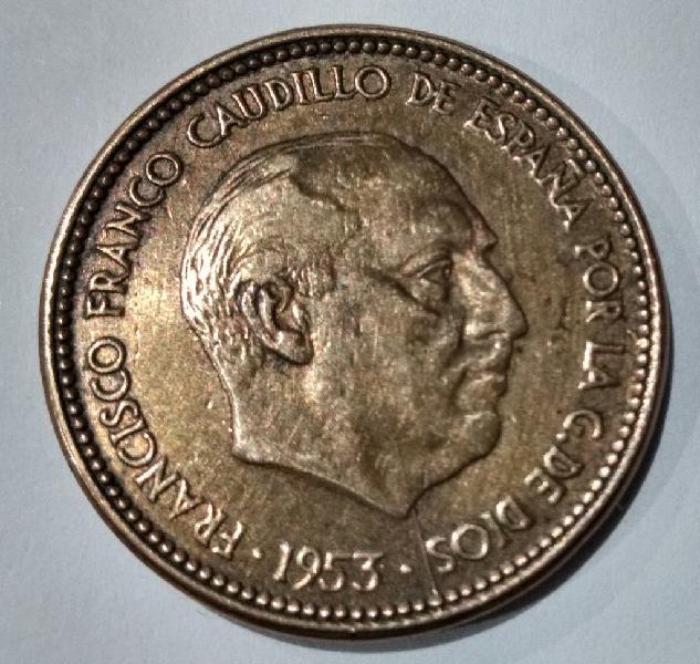 Prueba: 2,5 pesetas franco 1953 *56