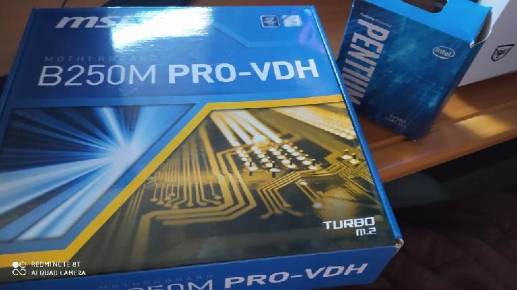 Pentium g4560 + placa base b250m