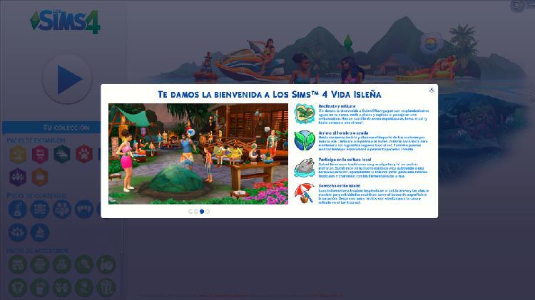 Sims 4 + novedad vida isleña