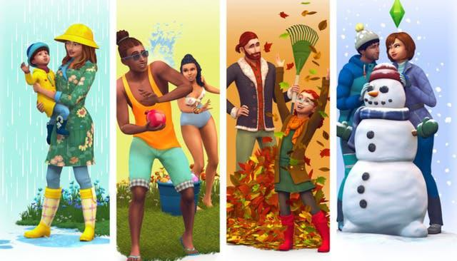Sims 4 todas las expansiones +estaciones