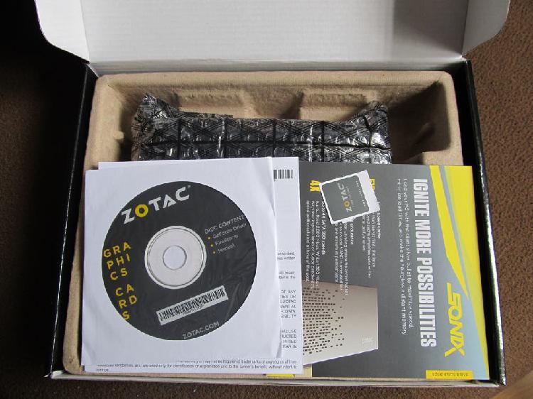 Zotac geforce gtx 1050 ti 4gb oc edition sin usar