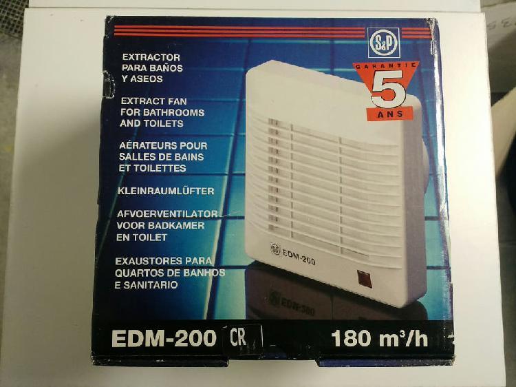 Extractor de baño s&p edm 200 cr