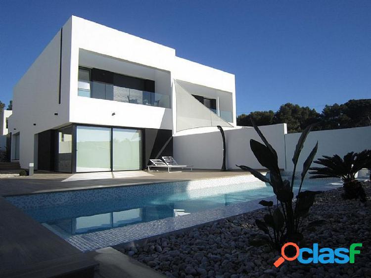 Villa moderna de nueva construcción en venta en benissa con impresionantes vistas al mar desde morai