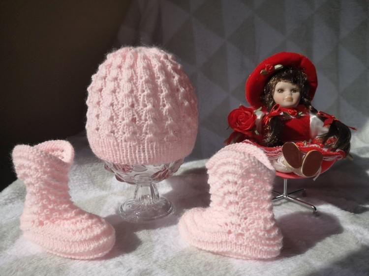 Botitas con gorritos recién nacido
