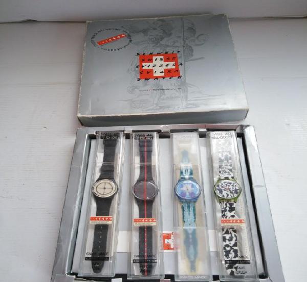 Coleccion de4 relojes swatch swiss art