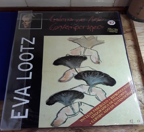 Eva lootz,interesante litografía de coleccion,galeria de
