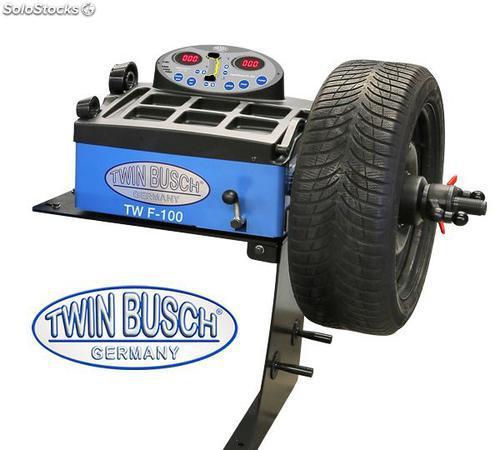 Equilibradora de ruedas semiautomática accionada a mano -