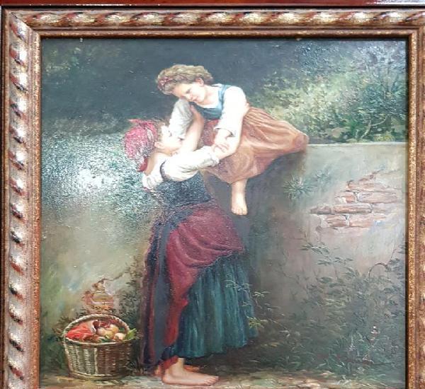 Oleo sobre tabla del pintor ingles marión