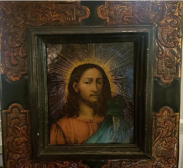 Salvatore mundi, óleo sobre cobre
