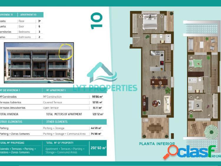 Apartamento duplex nueva construcción en el arenal de javea