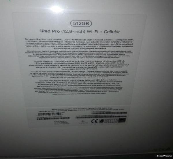 Apple ipad pro 12.9 2020, 512gb, wi-fi 4g lte
